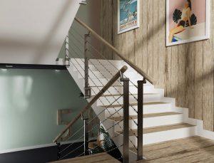 Mieszkania Dzwinów - wizualizacja klatki schodowej