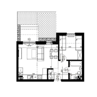 Rzut apartamentu nr 4
