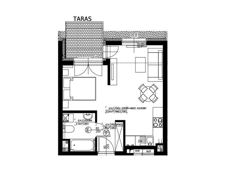 Apartamenty nad morzem Dziwnów - mieszkanie nr4