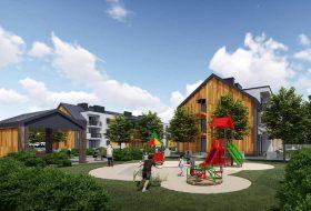 Plac zabaw na osiedlu Klimaty Baltyku - Apartamanty w dziwnowie na sprzedaż